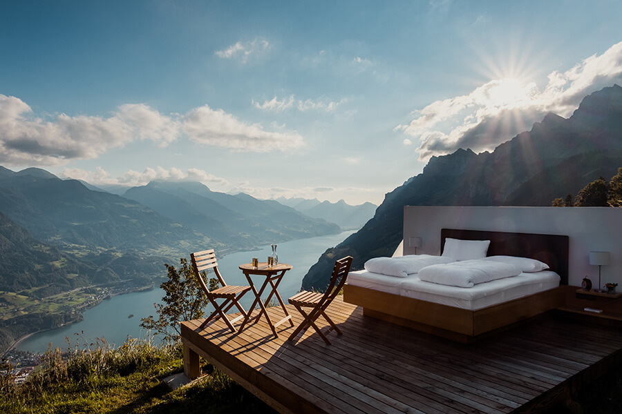 The Zero Star Hotel in Swiss Alps